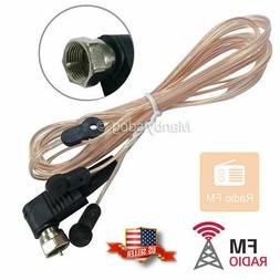 FM Dipole Antenna MALE Type F Connect Threaded Screw On HD R