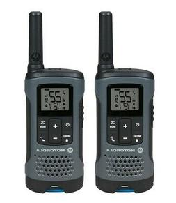 Motorola FRS T200 Gray Rechargeable 2 Way Radio Twin Pack 20
