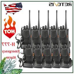 10*Walkie Talkie two Way Radio Retevis H-777 UHF long range