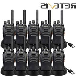 Long Range Radio RetevisH777 UHF Walkie Talkie 5W Emergency>