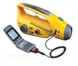 Hurricane Emergency Solar / Hand Crank RADIO & FLASHLIGHT Ce