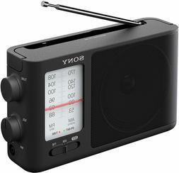 Sony ICF-506 Analog Tuning Portable FM/AM Radio, Black, 2.14
