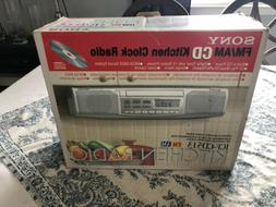 Sony ICF-CD513 Under Cabinet Counter Clock Radio AM FM CD Pl