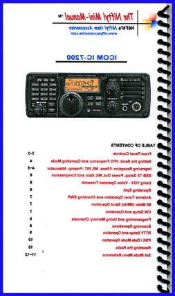 Icom IC-7200 Mini-Manual by Nifty Accessories