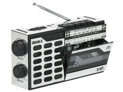 QFX J-7 Retro AM/FM/SW Radio Portable Cassette Player/Record