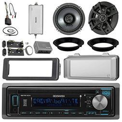 """Kenwood KDCBT22 CD Receiver Bundle / 2 Kicker 6.5"""" Speaker +"""