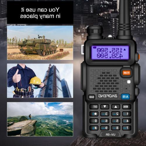 Baofeng Walkie Talkies Two-way Dual VHF Mic