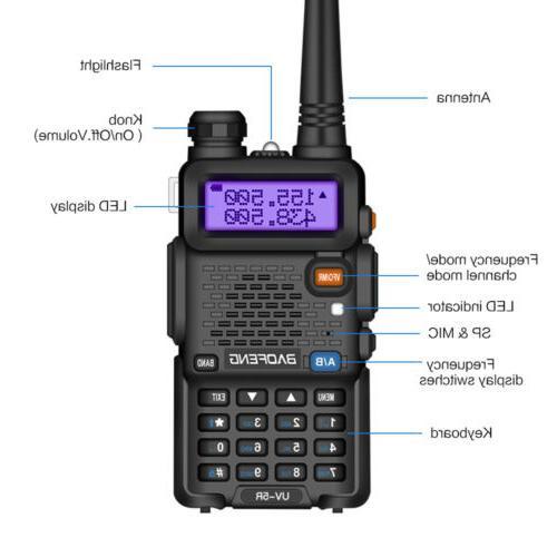 Two-way VHF UHF Mic