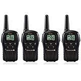 4-Pack Midland LXT500VP3 Two Way Radio, Rechargeable Batteri