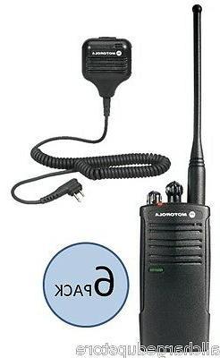 6 Motorola RDU4100 Two Way Radio Walkie Talkies with Speaker