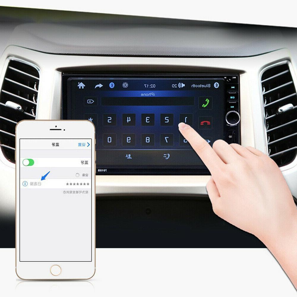 "7"" 2 Touch Screen Car Radio USB IN MP5 Camera"
