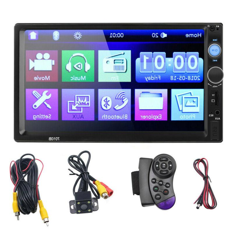 "7"" Inch DOUBLE 2DIN Car MP5 Player BT Tou+ch Screen Stereo R"