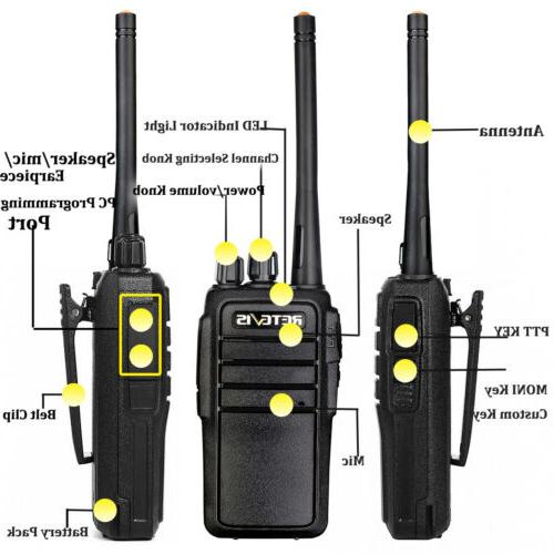 Walkie UHF FRS VOX Two Way Radio+Mic Black