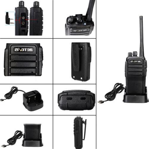 Walkie UHF FRS VOX Two Way Radio+Mic 2W squelch Retevis Black