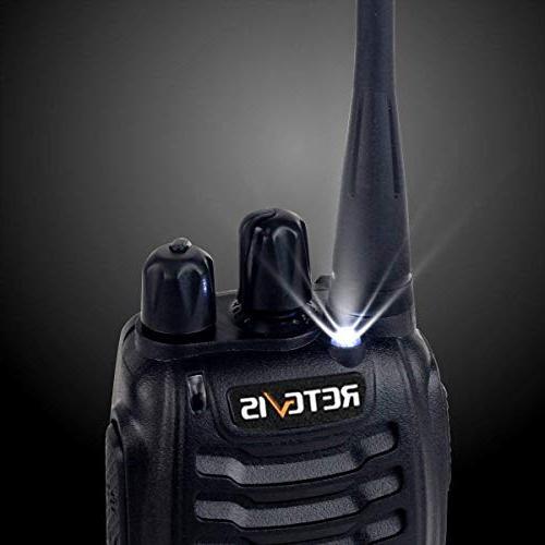Retevis H-777 Walkie UHF Long Rechargeable 2 Radio Portable Handheld Emergency Way Adapter