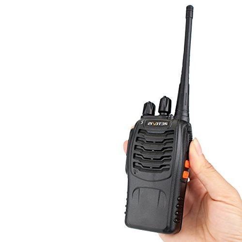 Retevis H-777 Walkie Talkies UHF Long Rechargeable Portable Handheld Way