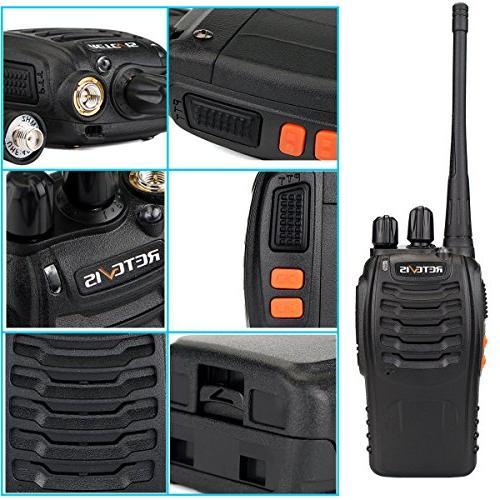 Retevis Walkie UHF Long 2 Portable Way Radios Adapter