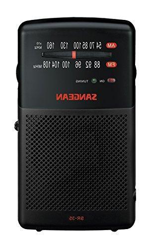 Sangean SR-35 AM/FM Analog Pocket Radio