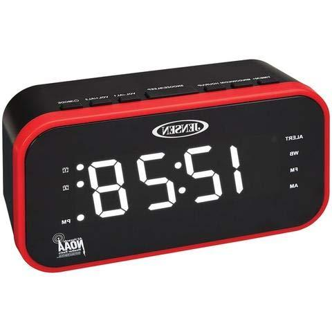 Jensen JEP-150 AM/FM Band Clock Radio with Weather Alert