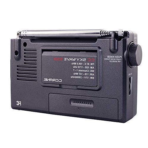 C. Crane CC SSB FM, Shortwave, NOAA Alert, Scannable VHF Aviation Band and Small Battery Operated Travel