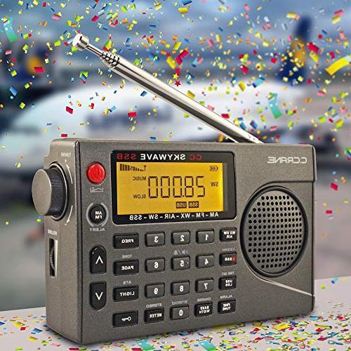 C. SSB Shortwave, NOAA Scannable Small Battery Operated Travel Radio