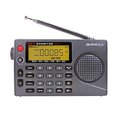 C. Crane CC SSB FM, NOAA Scannable Aviation and Single Bands Small Battery Operated Travel