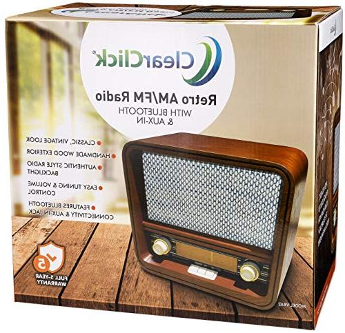 ClearClick Retro Style & Aux-in - Handmade Wooden