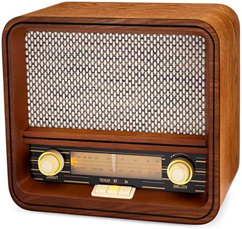 classic vintage retro style am fm radio