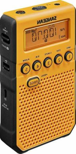 Sangean DT-800YL AM / FM / NOAA Weather Alert Rechargeable P