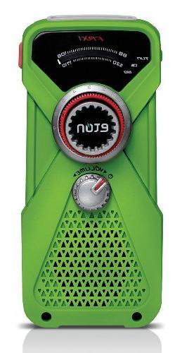 Eton Hand Turbine AM/FM Weather Radio and LED Flashlight - G