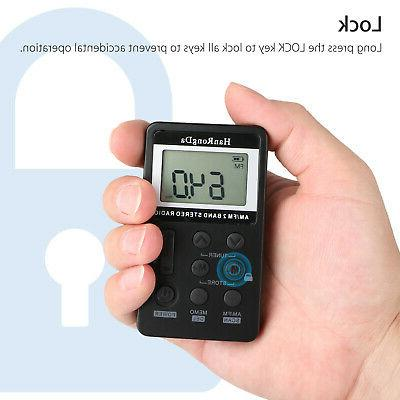 Mini Handy LCD AM FM Radio Rechargeable with Earphone