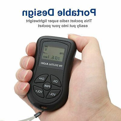 Mini Digital Portable LCD Radio Rechargeable with Earphone