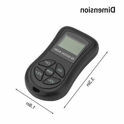 Mini Portable Pocket LCD Receiver Rechargeable