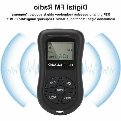 Mini Digital LCD Radio Rechargeable with
