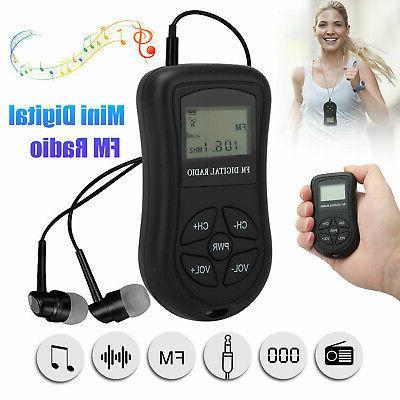 mini digital portable pocket lcd fm radio