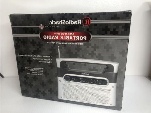 RadioShack Portable Analog Tuning AM/FM/Weather Tabletop Rad