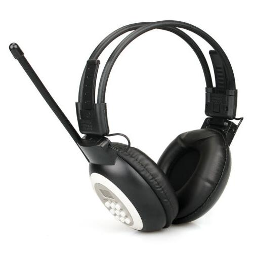 Foldable FM Headset Radio Headphone Receiver Stereo/Mono for