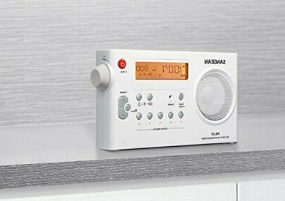 Sangean Rechargeable Radio White