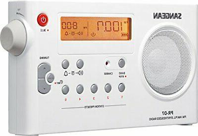 Sangean PR-D7 Digital Rechargeable Portable White