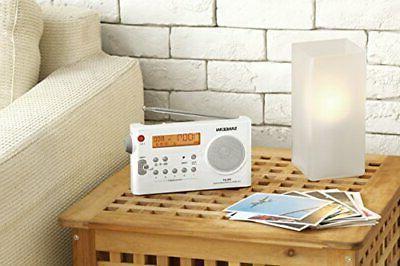 Sangean PR-D7 Rechargeable Portable Radio White