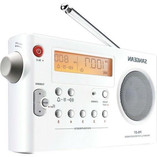prd 7 digital am fm portable radio