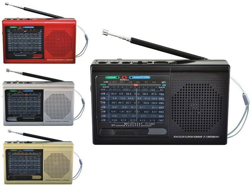 Supersonic SC-1080BT Rechargeable 9-Band AM/FM/SW1-7 Radio +