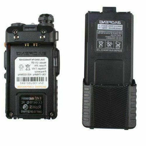 Baofeng UV-5R Dual Band UHF/VHF Radio Upgrade 3800mah
