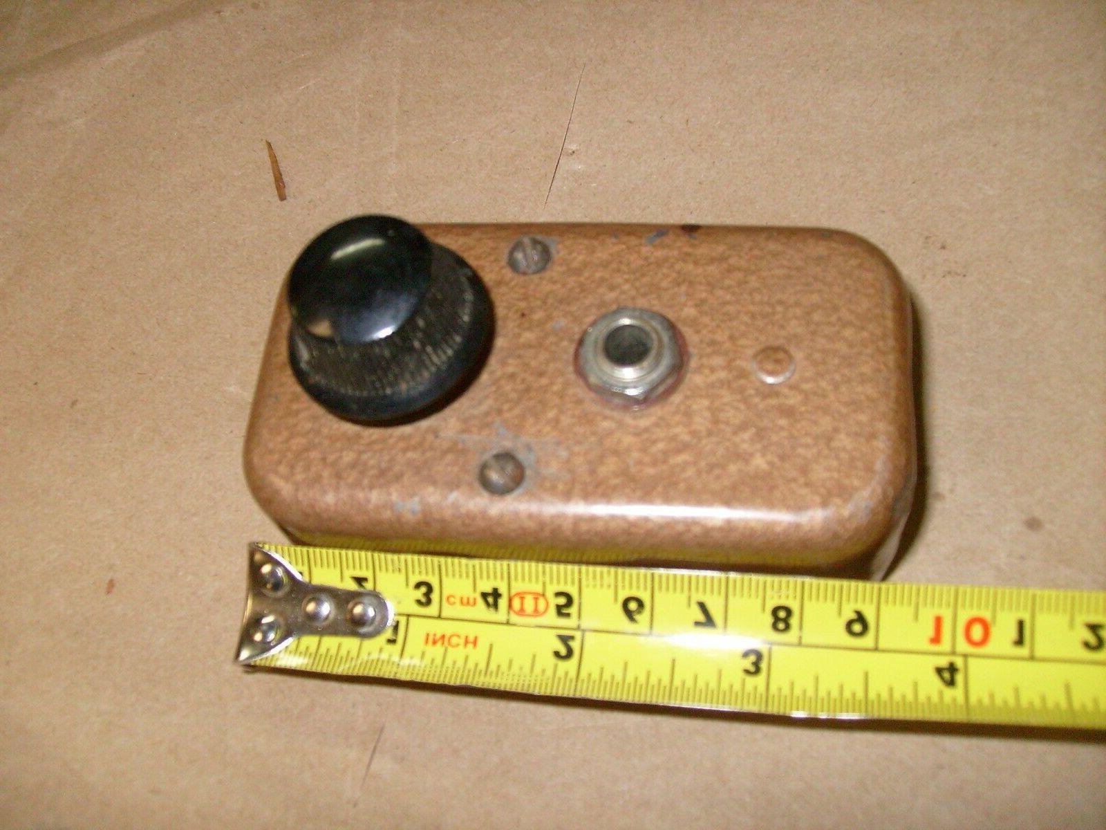 VINTAGE RADIO METAL BOX CONTROL FROM HAM RADIO