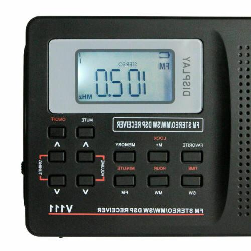 Portable FM/MW/SW Receiver Stereo DSP Full