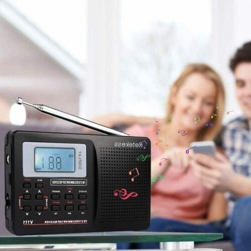 Portable FM/MW/SW Radio Stereo DSP Full