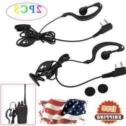 2PCS Headset For Baofeng Radio Earpiece 2Pin Walkie Talkie H