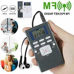 Mini Digital Portable FM Radio Pocket LCD Display Stereo Rec