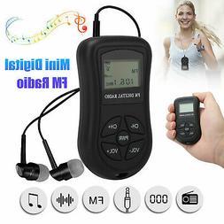 Mini Digital Portable Pocket LCD FM Radio Receiver Rechargea