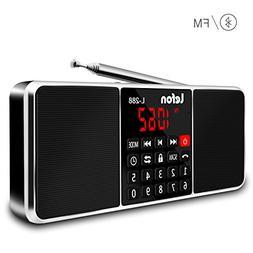 LEFON Multifunction Digital AM FM Radio Bluetooth Media Spea